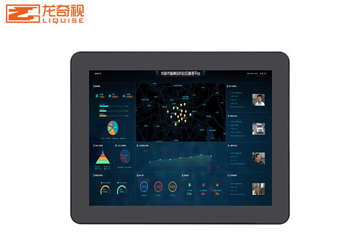 21.5 Inch Aluminum Frame Resistance Embedded Touch Screen PC Wall Display
